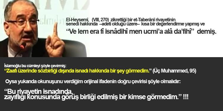 M.İslamoğlu'nun Anlama Problemi ve Arapça'daki Zayıflığı!