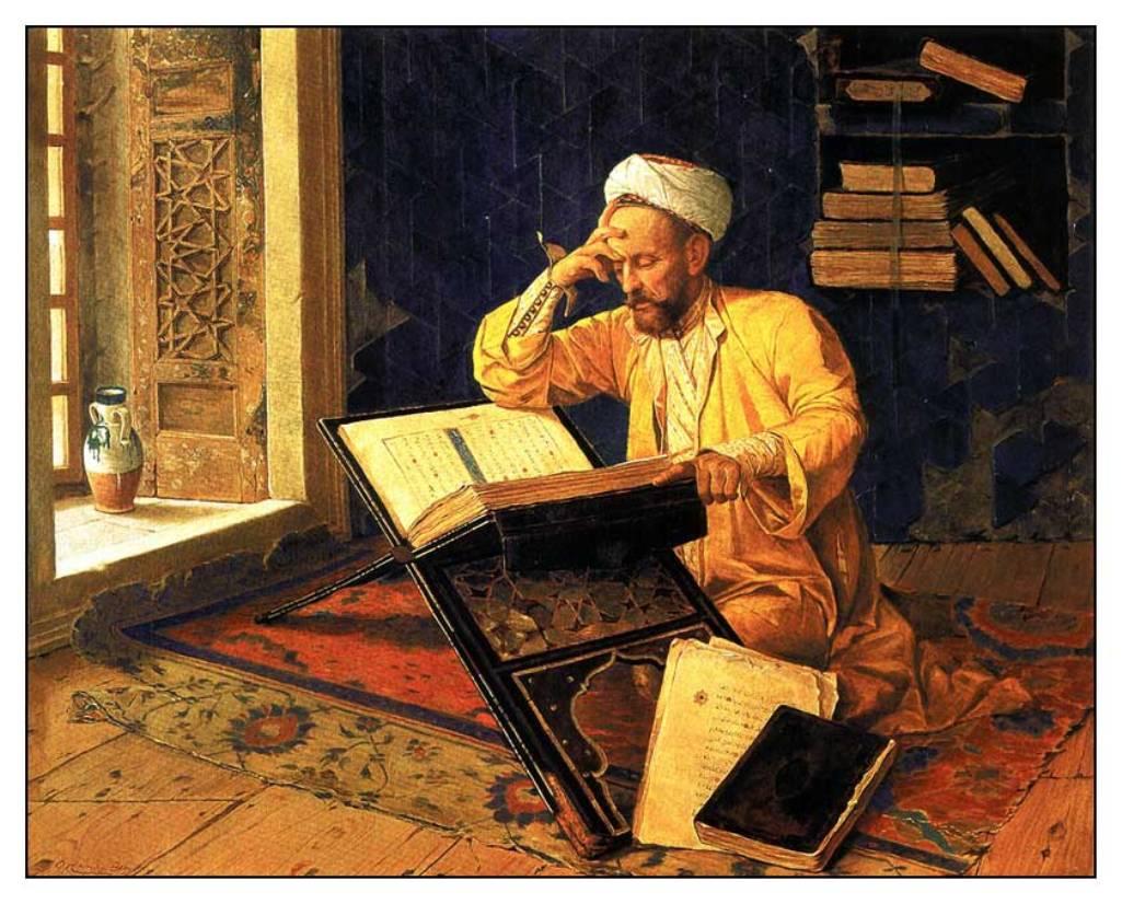 osman_hamdi_bey_kuran_okuyan_adam_tablosu Fahruddin Râzi'nin Bir Hristıyan Bilgin İle Münakaşası