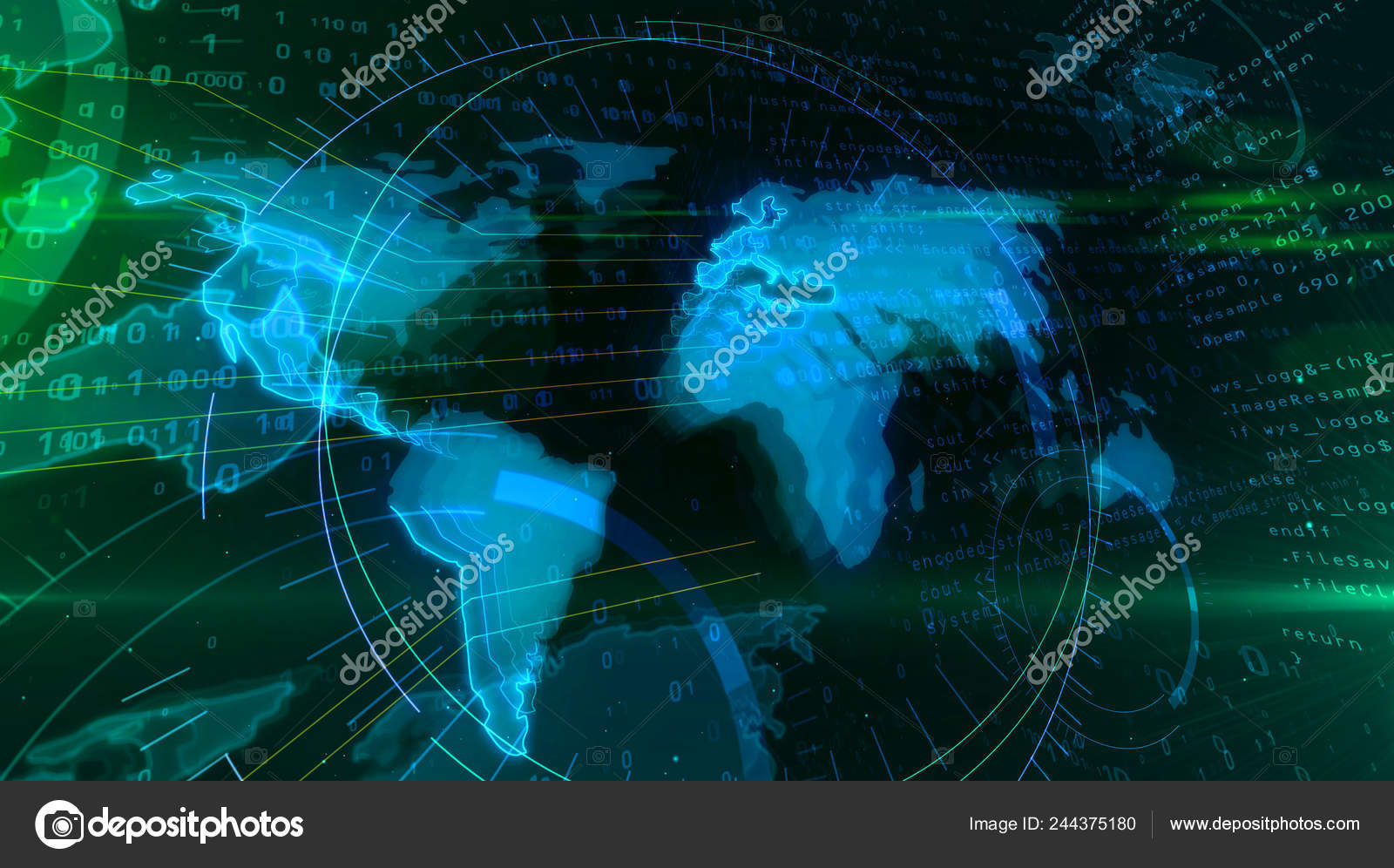 depositphotos_244375180-stock-photo-global-networking-concept-world-map Siber Toplumda Mahremiyetin Dönüşümü